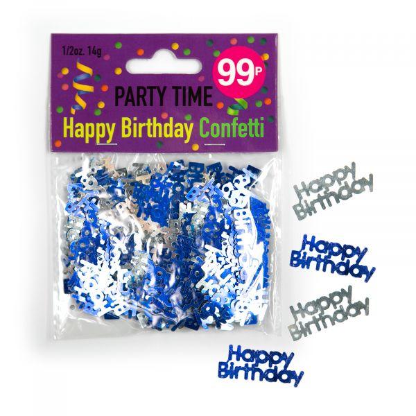 Confetti Happy Birthday Male