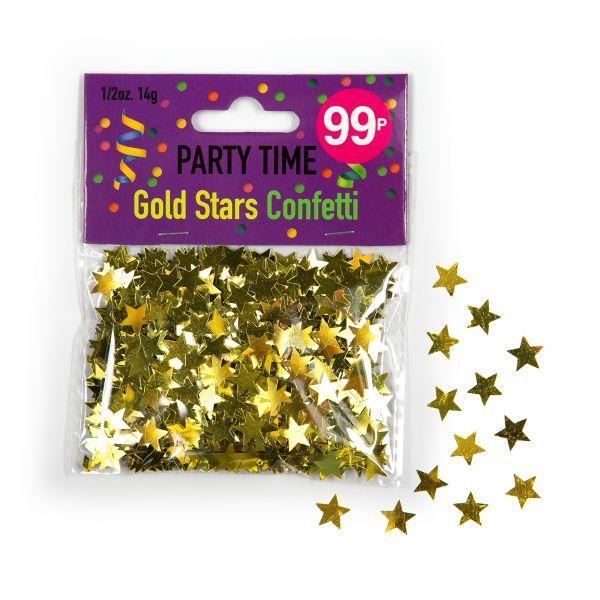 Confetti Gold Stars