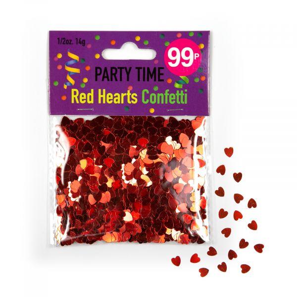 Confetti Red Hearts