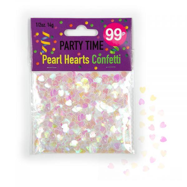 Confetti Pearl Hearts