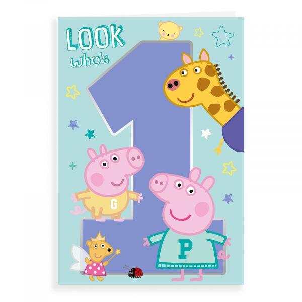 Birthday Card Age 1,Peppa Pig