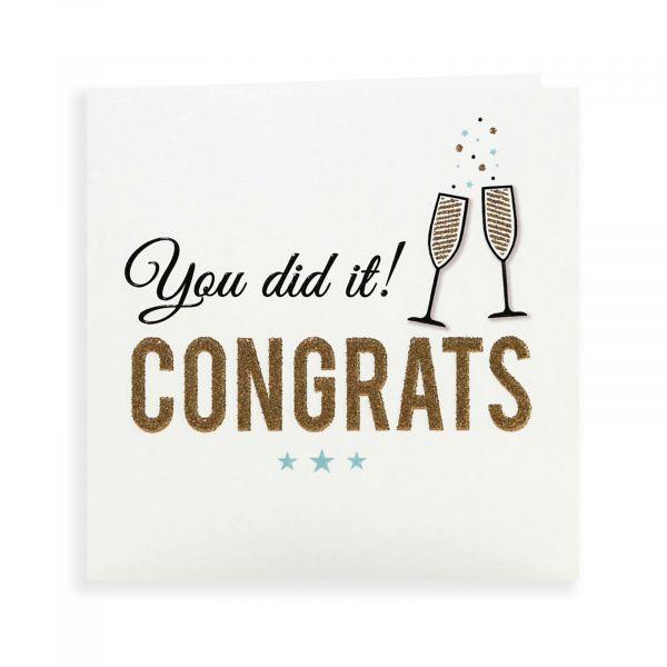Congratulations Card, Glasses