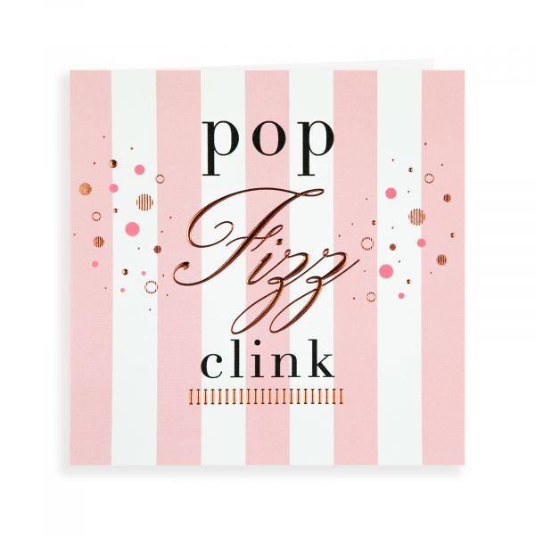 Birthday Card Open, Pop Fizz Clink