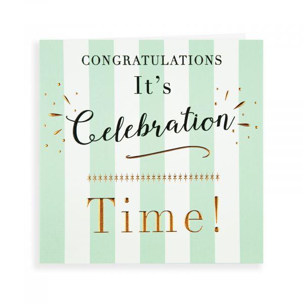 Congratulations Card, It's Celebration Time