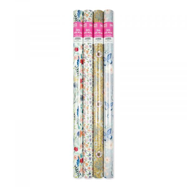 4 assorted Female 3m Roll Wrap