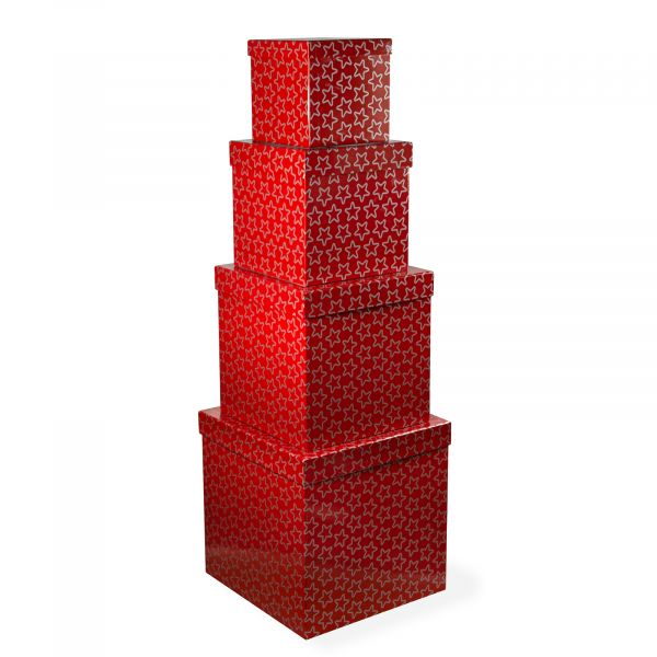 Giant Red Gift Boxes