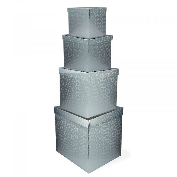 Giant Silver Gift Boxes