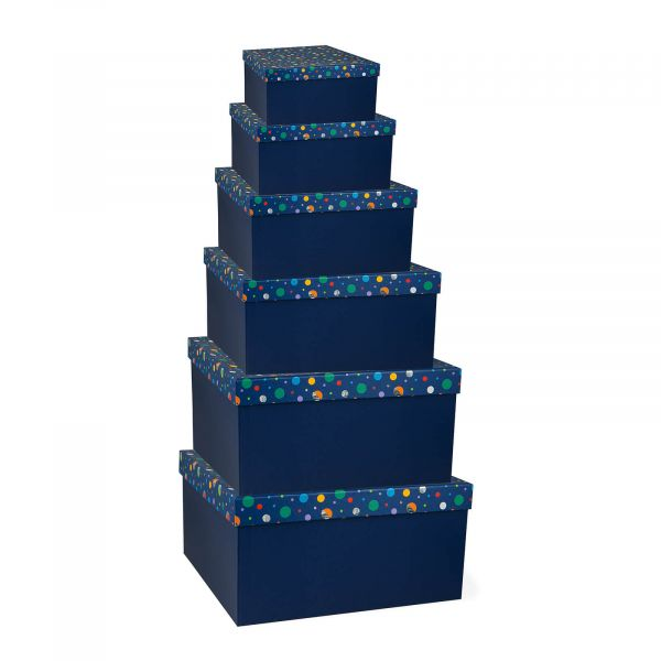 Navy Dots Gift Boxes