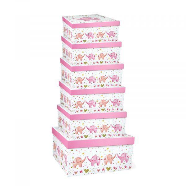 Baby Girl Elephant Gift Boxes