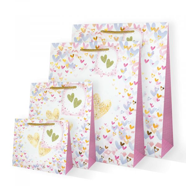 Confetti Hearts Gifts Bags