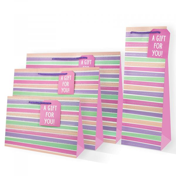 Stripes F Gift Bags