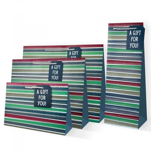 Stripes M Gifts Bags