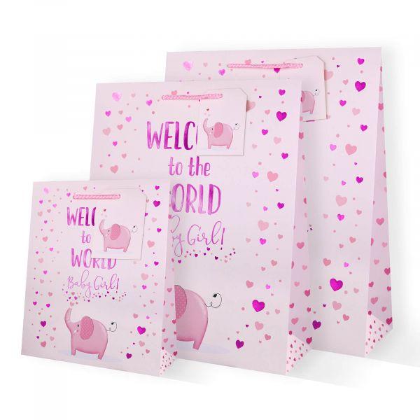 Baby Girl Elephant Gift Bags
