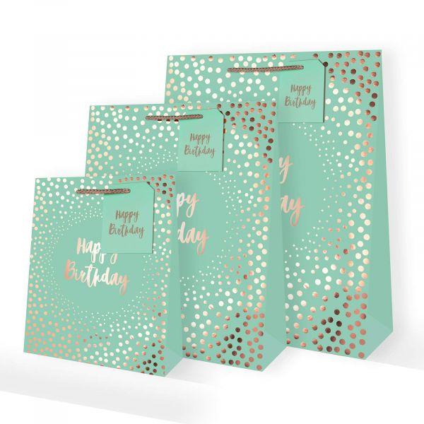 Foil Dots Jade Gift Bags