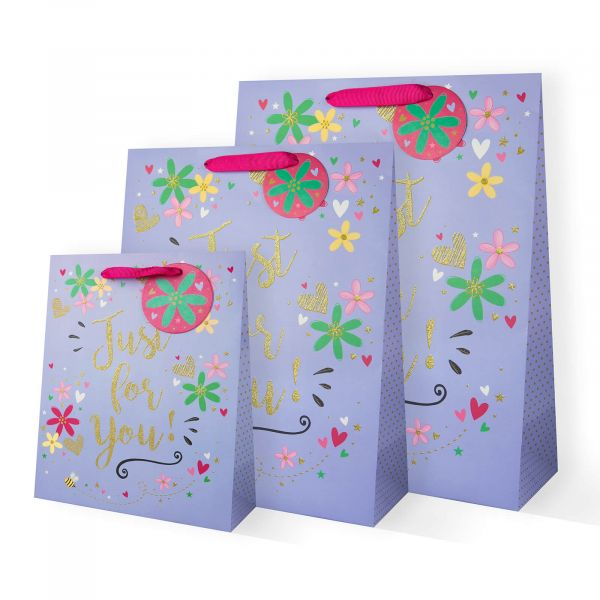 Just For You Floral Gift Bags
