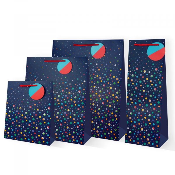 Blue Dotty Gifts Bags