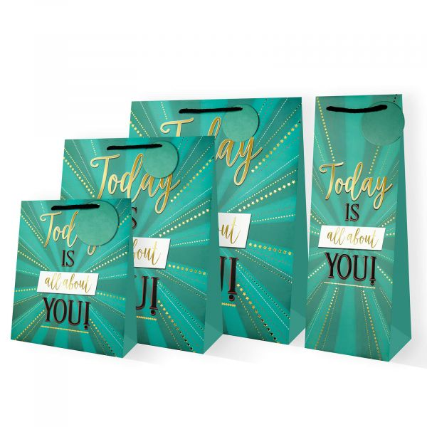Today Is About You Star Burst Gift Bags