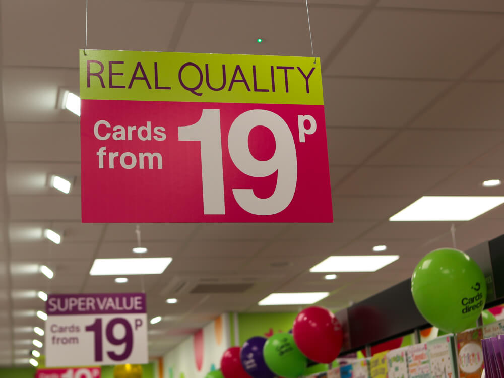 Real quality cards from 19p sign